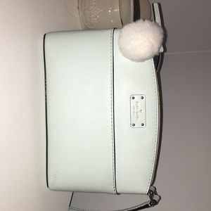 kate spade tiffany blue body strap purse